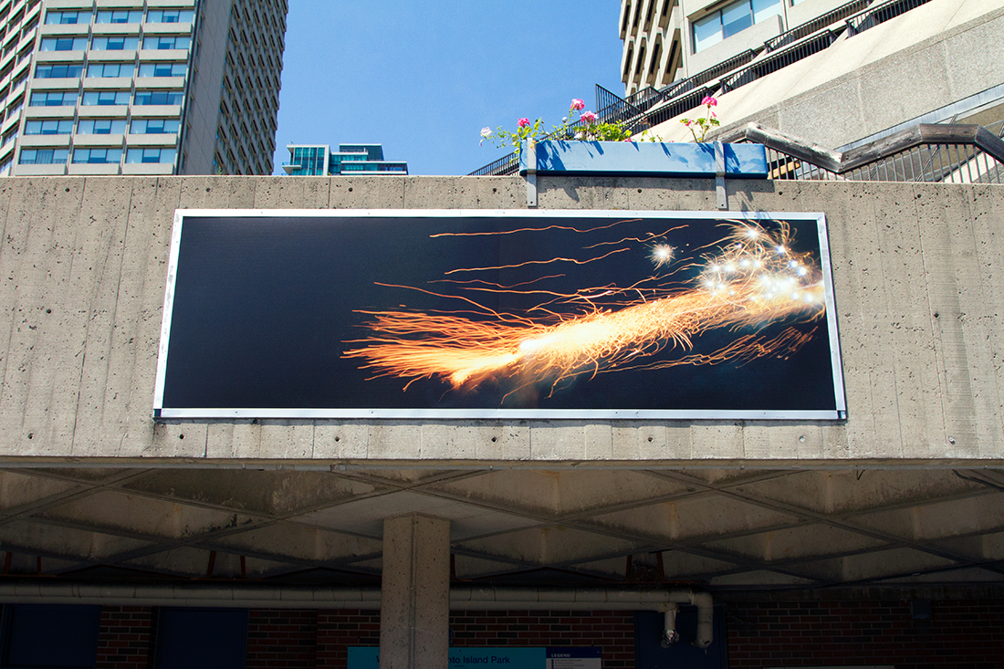 Installation view: <i>Water and Sky</i> at Jack Layton Ferry Terminal, 2017